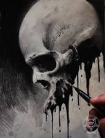 ink skull III by AndreySkull