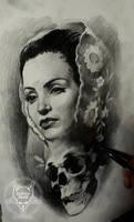 vintage face skull by AndreySkull