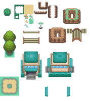 Route 1 Tileset by PixelMister
