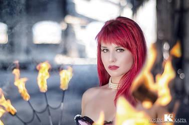 Fire in her eyes... by KostasKappa