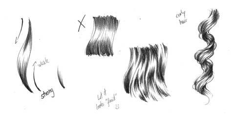 Glossy hair effect