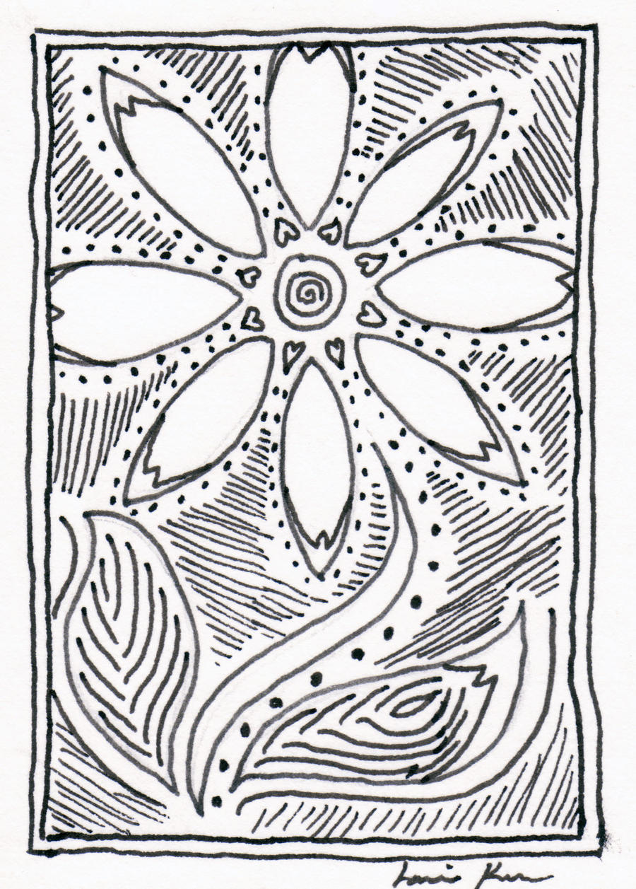 Line Work Art : Flower linework by lauriekerr on deviantart