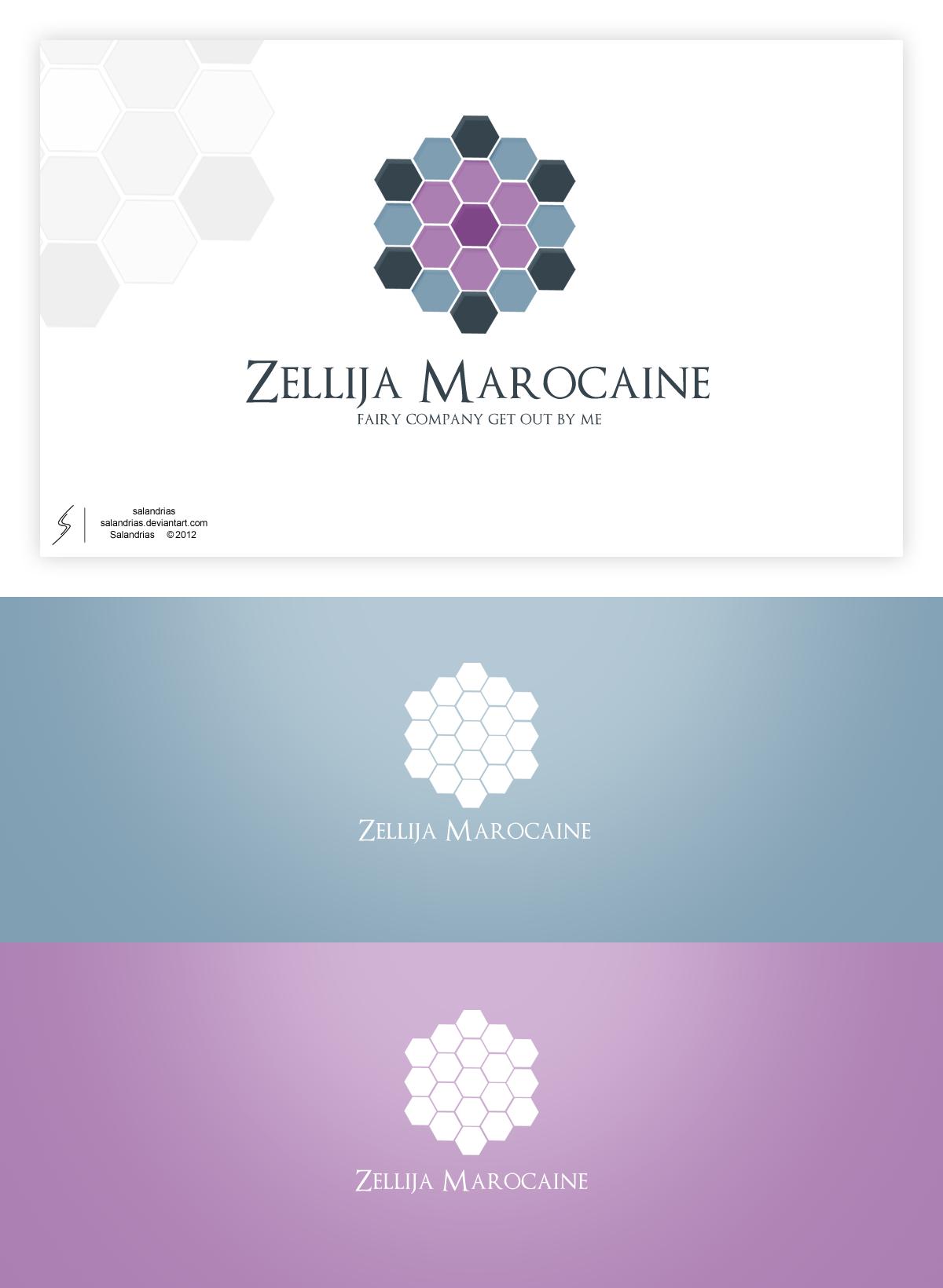 Zellija marocaine logo by salandrias