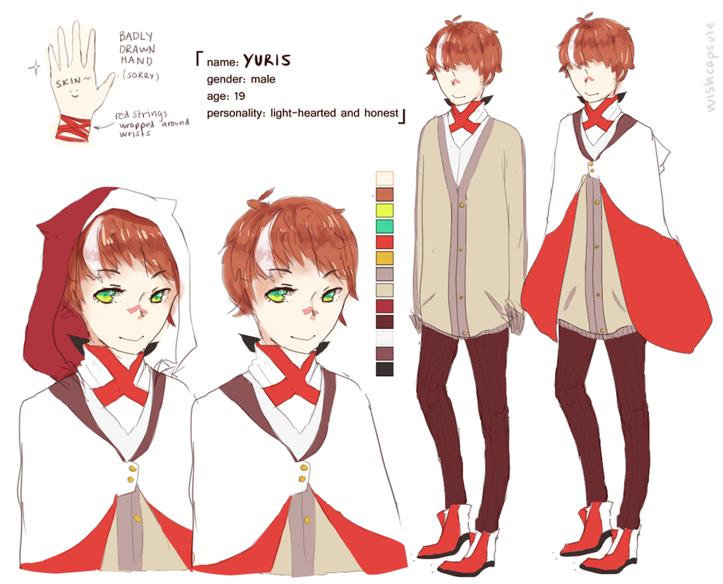 Character Design Oc : Oc yuris character sheet by wishcapsule on deviantart