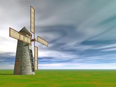Windmill by iamshaon