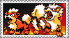 Arcanine Growlithe stamp by PhantomDragonZX
