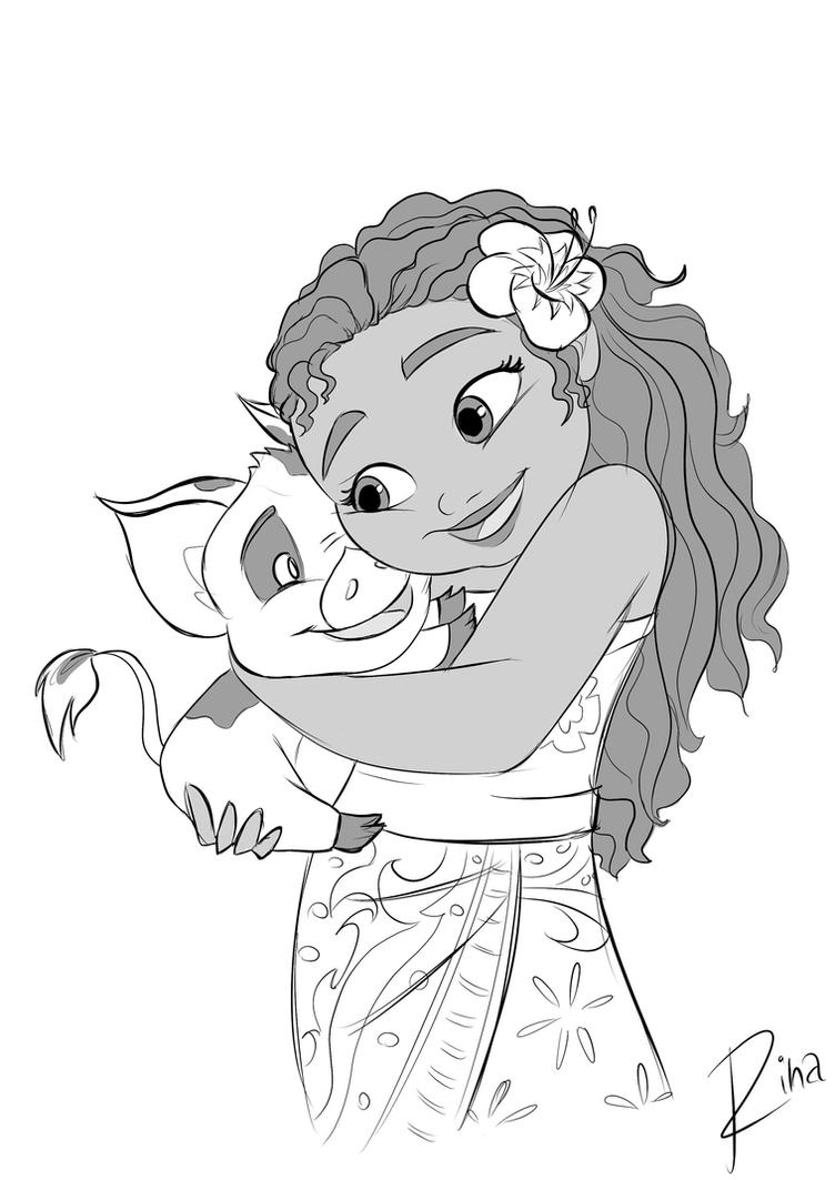 moana and pua by rinam on deviantart