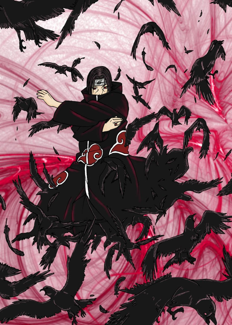 Itachi Crows by MellissaAF on deviantARTItachi Crows Wallpaper