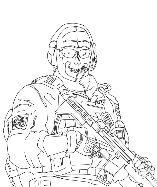 Call of duty modern warfare coloring pages pictures to pin for Call of duty coloring page