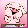 Icon little pig by xkimiax