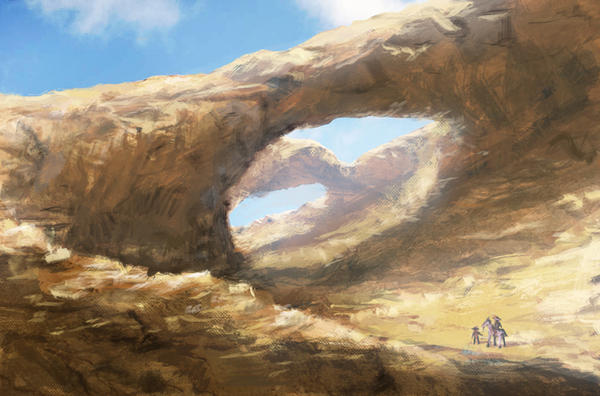 Canyon sketch by ruffSketch