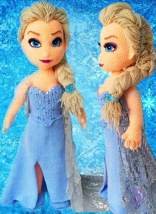 Frozen-Elsa crochet doll by Vera-DV on DeviantArt