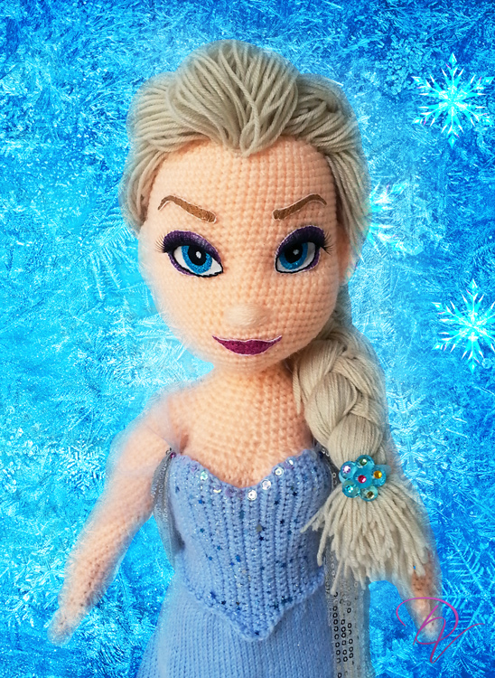 Crochet Elsa Amigurumi : Elsa-crochet doll by Vera-DV on DeviantArt
