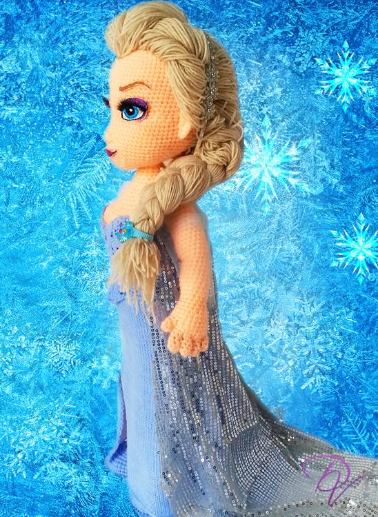 Frozen. Elsa crocheted doll pattern | 750x548