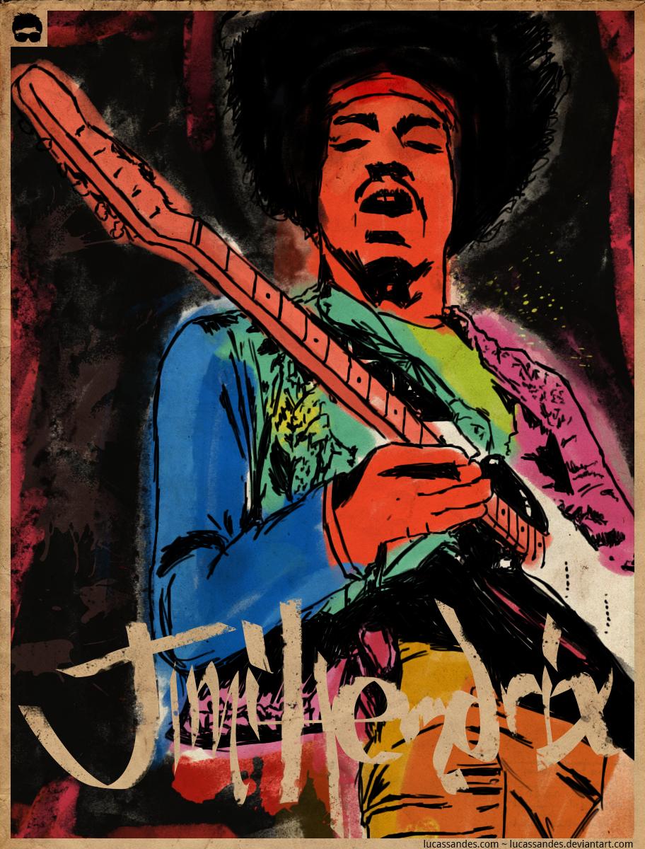 Jimi Hendrix by LucasSandes