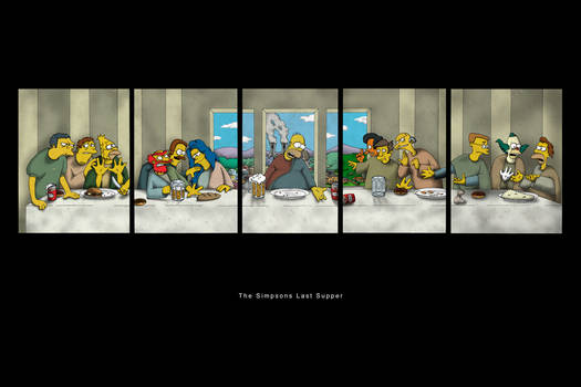 The Simpsons Last Supper