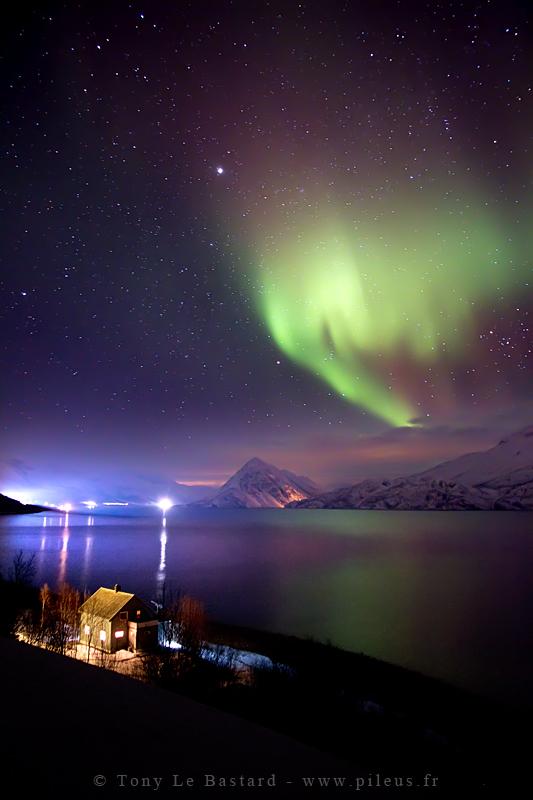 Northern lights - Langfjord by TonyLeBastard
