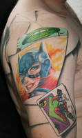 batman sleeve tattoo by carlyshephard