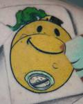 joker smiley face grenade tat