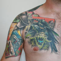 finished batman tattoo front by carlyshephard