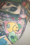 batman , joker tattoo complete