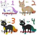 Fox/Cat Element Adoptables 3 [Closed]