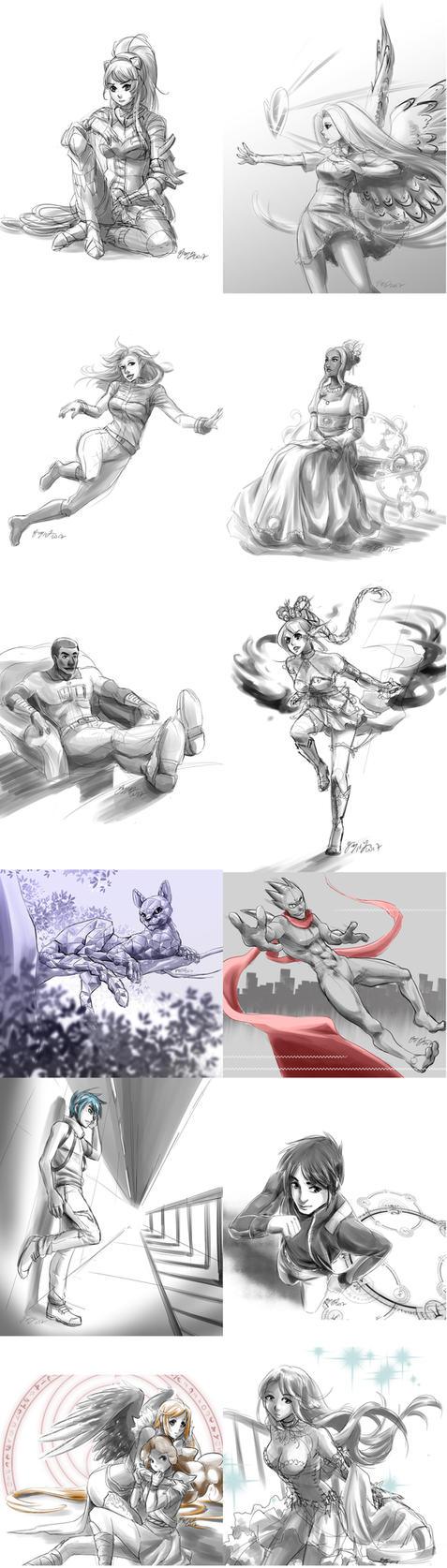 2017 Sketch Dump by tiffa