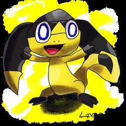 Krita Pokemon #82: Helioptile by GameArtist1993