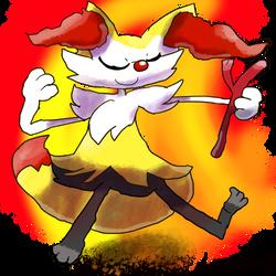 Krita Pokemon #87: Braixen by GameArtist1993