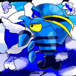 Krita Pokemon #91: Clauncher by GameArtist1993