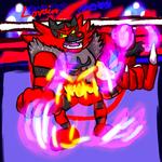 Krita Pokemon #18: Incineroar (Redraw)
