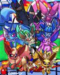 Eeveelutions - Nintendolympics Collaboration by GameArtist1993