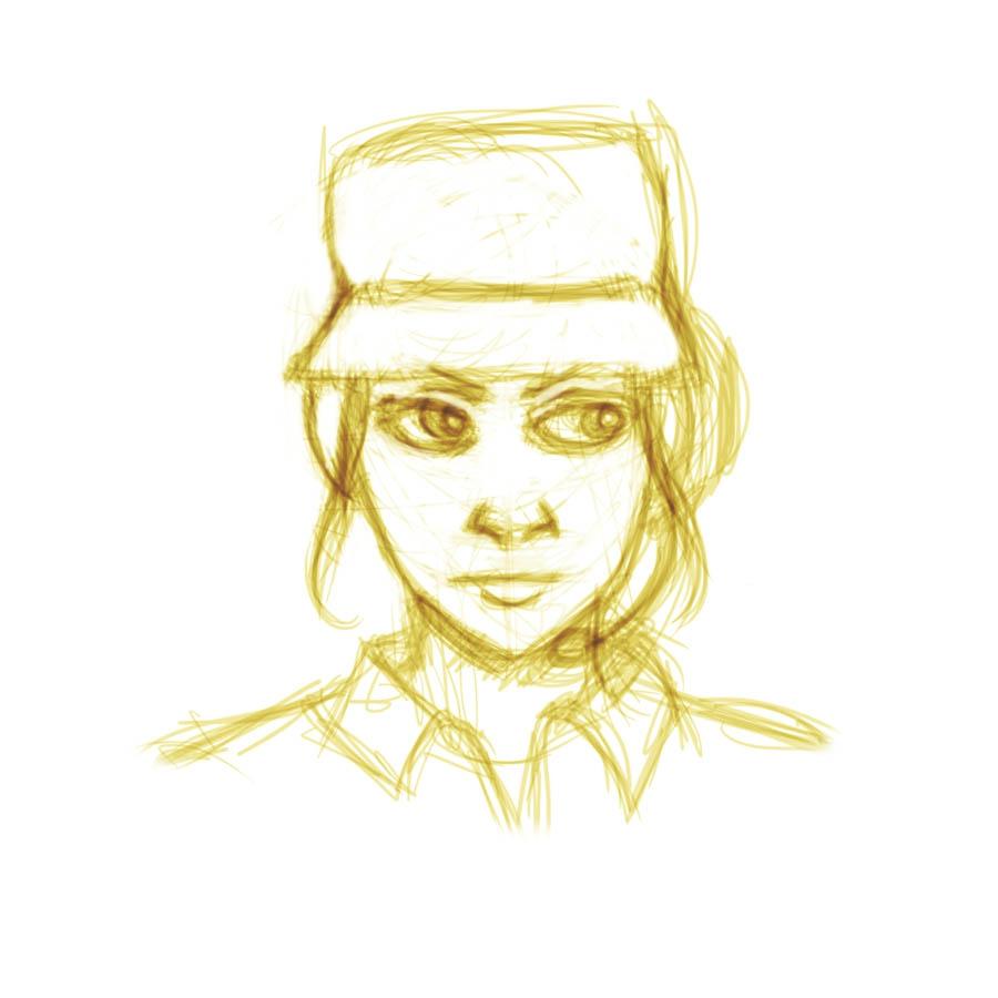TF2 - Female Scout sketch by wendylizana