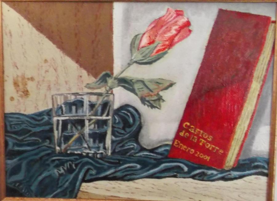 Vaso de agua con una rosa de plastico by carlossimio on - Vaso con agua ...