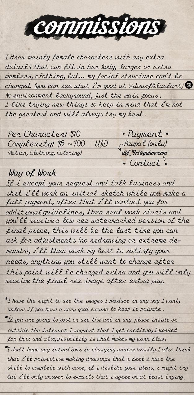 Commission Journal by Dwarfbluefart
