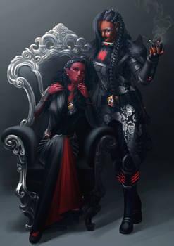 Commission: Nadina and Ajuur