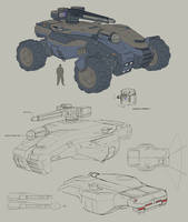 Long range combat vehicle by TimoKujansuu