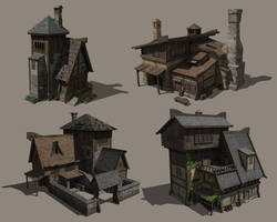 Various house designs 2 by TimoKujansuu