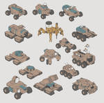 Various vehicle sketches