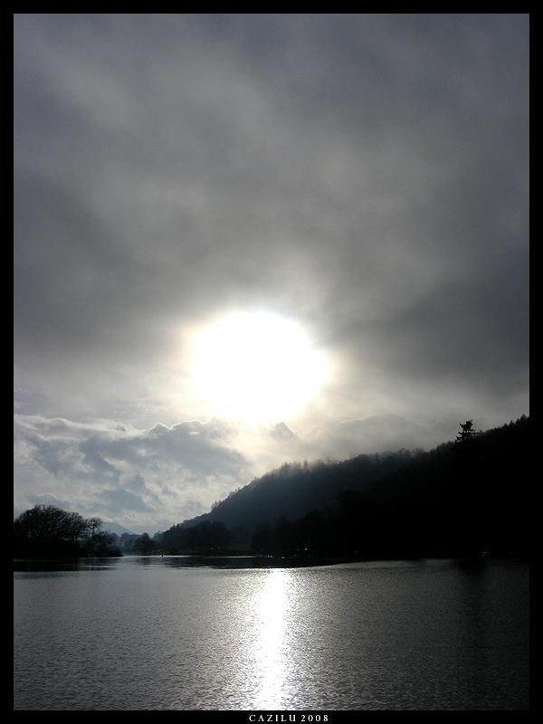 Sunlight falling on the Lake by Cazilu