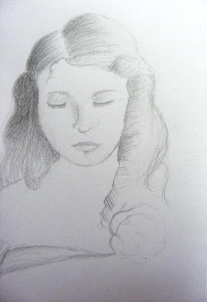 portrait of a girl by Cazilu