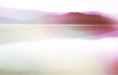 pink lake by Cazilu