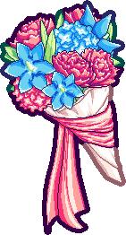 Pixel Advent 10 - Hydrangea Peony Bouquet