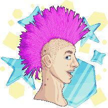 Pixel Advent 21 - Juice Shop Mohawk Guy