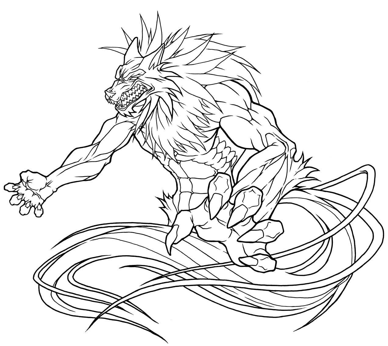 Moderno Wolfman Para Colorear Bandera - Dibujos de Animales para ...