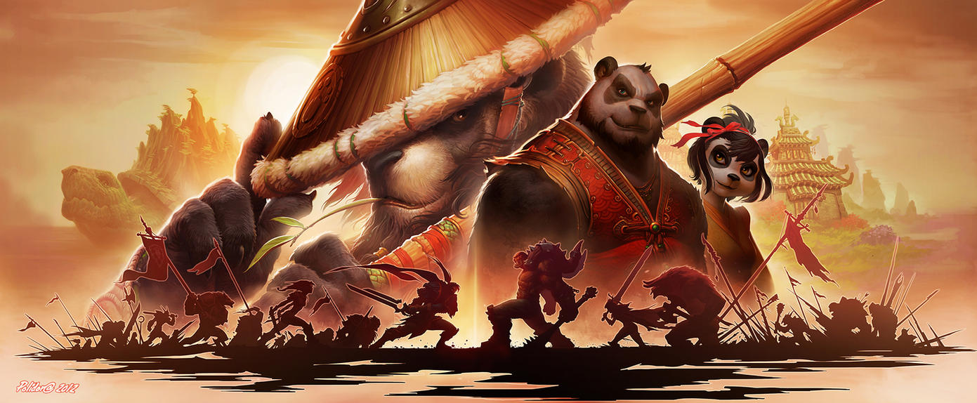 Mists of Pandaria Promotional Art by NorseChowder