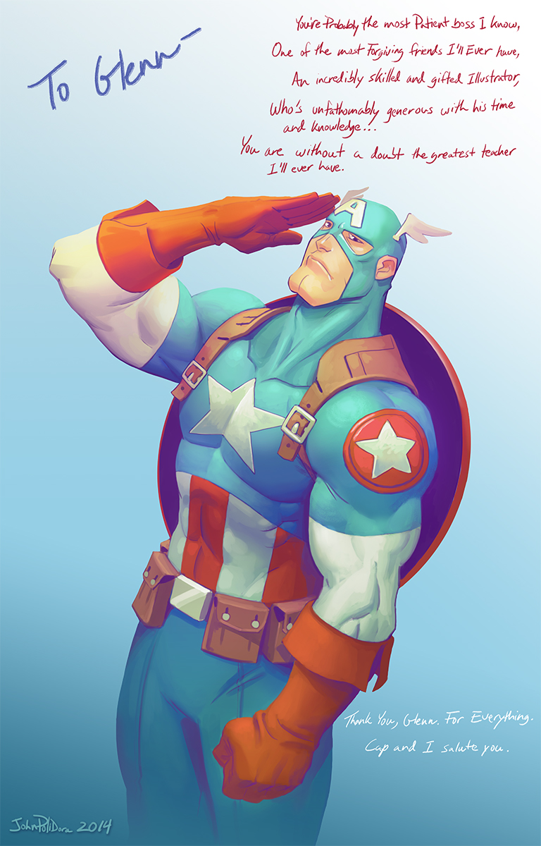 Captain America Thank You Card by NorseChowder