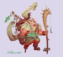 Fishing Barbarian Garp by NorseChowder