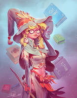 Librarian Witch by NorseChowder