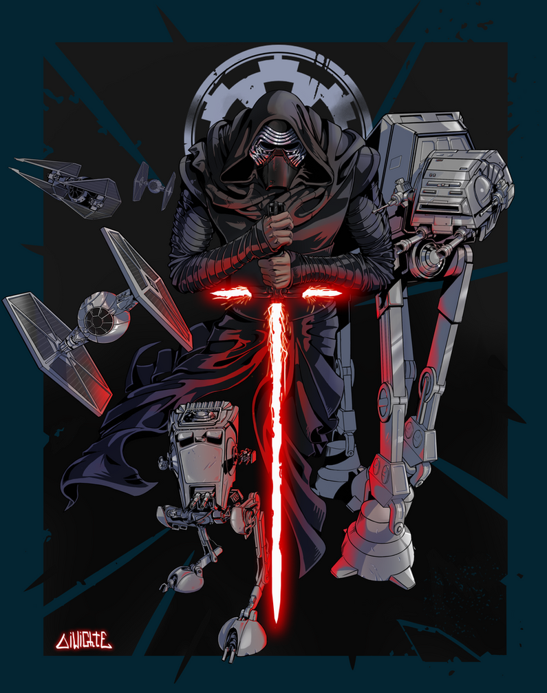 Star Wars poster  by DiWighte